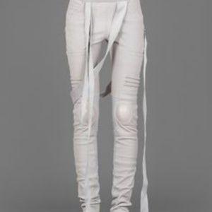 Rick Owens Nagakin Leather Leggings
